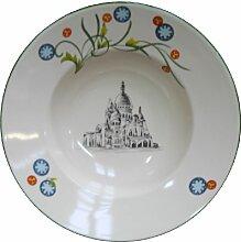 Assiette creuse Paris Ø22,5cm faïence