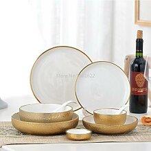Assiette or en céramique de Style nordique