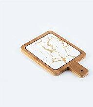 Assiettes à Dessert Plaque de texture de marbre