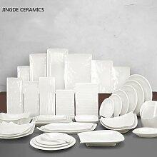Assiettes alimentaires occidentales en plastique