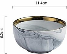 Assiettes Céramique Marbre européenne Strip Art