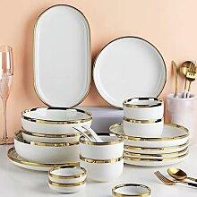 Assiettes en céramique blanche pour la