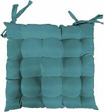 Assise matelassée - 40 x 40 cm - Essentiel - Bleu