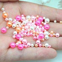 Assortiments de perles rondes de rose, 20 grammes