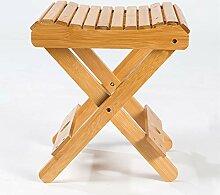 ASSR Chaise de bain ou de spa pliable en bambou
