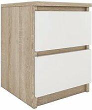 ASTER T2 - Table de chevet 2 tiroirs style moderne