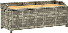 Asupermall - Banc de rangement de jardin 120 cm