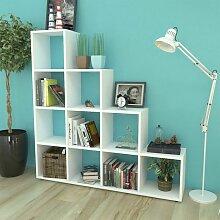 Asupermall - Bibliotheque/etagere 142 cm Blanc