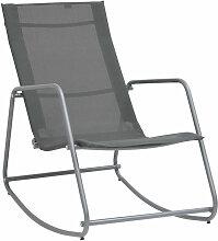 Asupermall - Chaise a bascule de jardin Gris