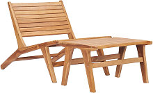 Asupermall - Chaise de jardin avec repose-pied