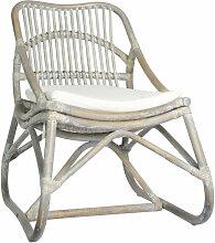 Asupermall - Chaise en rotin Gris Lin