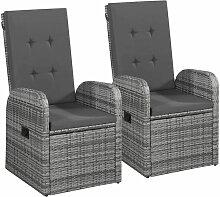 Asupermall - Chaise inclinable de jardin 2pc et