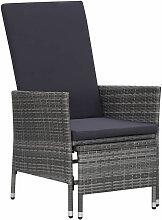 Asupermall - Chaise inclinable de jardin avec