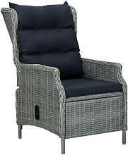 Asupermall - Chaise inclinable de jardin coussins