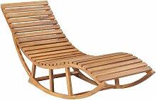 Asupermall - Chaise longue a bascule Bois de teck