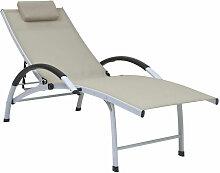 Asupermall - Chaise longue Aluminium textilene