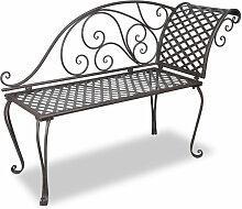 Asupermall - Chaise longue de jardin 128 cm Acier