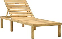 Asupermall - Chaise longue de jardin Bois de pin