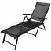 Asupermall - Chaise longue pliable Aluminium Noir