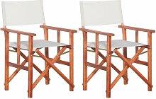 Asupermall - Chaises de metteur en scene 2 pcs