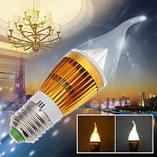 Asupermall - E27 6W Led Bougie Lampe Lustre