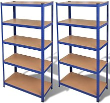 Asupermall - etagere de rangement 2 pcs Bleu
