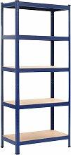 Asupermall - etagere de rangement Bleu 80x40x180