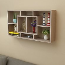 Asupermall - etagere murale 8 compartiments