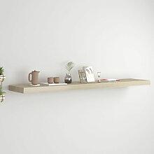Asupermall - etagere murale flottante Chene