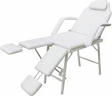 Asupermall - Fauteuil de podologie blanc creme