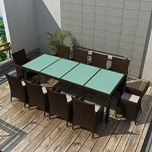 Asupermall - Jeu de mobilier de jardin 21 pcs