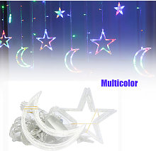 Asupermall - Lampe Rideau De Noel Moon Star