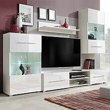 Asupermall - Meuble TV mural avec eclairage LED 5
