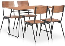 Asupermall - Mobilier a diner 5 pcs Marron