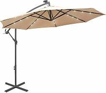 Asupermall - Parasol avec eclairage LED 300cm
