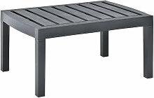 Asupermall - Table de jardin Anthracite 78x55x38