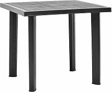 Asupermall - Table de jardin Anthracite 80x75x72