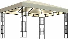 Asupermall - Tonnelle avec guirlande lumineuse 3x4