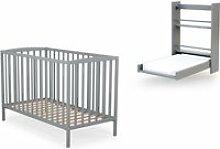 At4 - duo naissance lit bébé 60x120 et table à