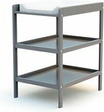 At4 - table à langer 2 étagères - gris 3332G2G0