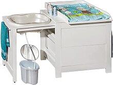 ATB Table à langer 3 en 1 avec baignoire et