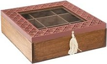 Atmosphera - boite à thé 9 compartiments blush