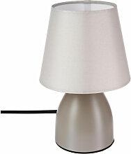 Atmosphera - Lampe de chevet taupe H19.5