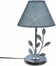 Atmosphera Lampe Feuille Eucalyptus métal patiné
