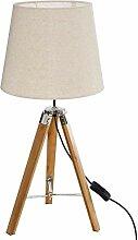 Atmosphera - Lampe Trépied en Bambou et Abat-Jour