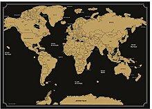 Atmosphera - Poster Carte du Monde à gratter 82 x