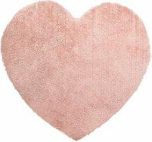 Atmosphera - tapis de chambre coeur rose  80 x 74