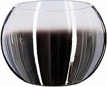 Atmosphera - Vase Boule Verre fumé H15 cm