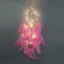 Attrape Rêves en Plumes LED Guirlande Lumineuse