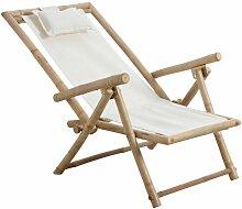 Aubry Gaspard - Chaise relax pliante en bambou